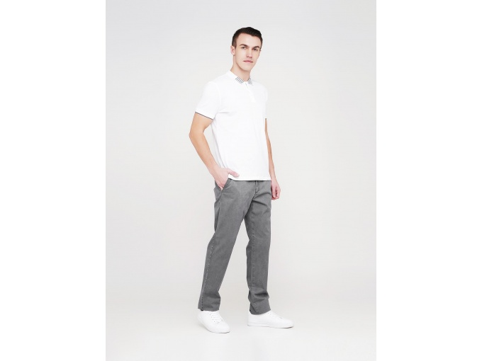 Сірі демісезонні чоловічі брюки Elvis з косими кишенями