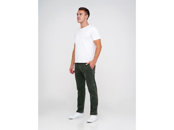 Темно-зелені вельветові чоловічі штани Elvis