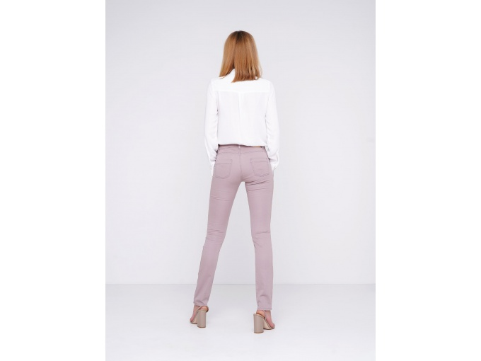 Облягаючі жіночі брюки сіро-пудрового кольору Jessica