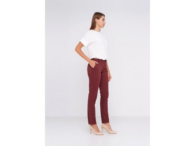 Елегантні жіночі штани Lori Long коричнево-бордові
