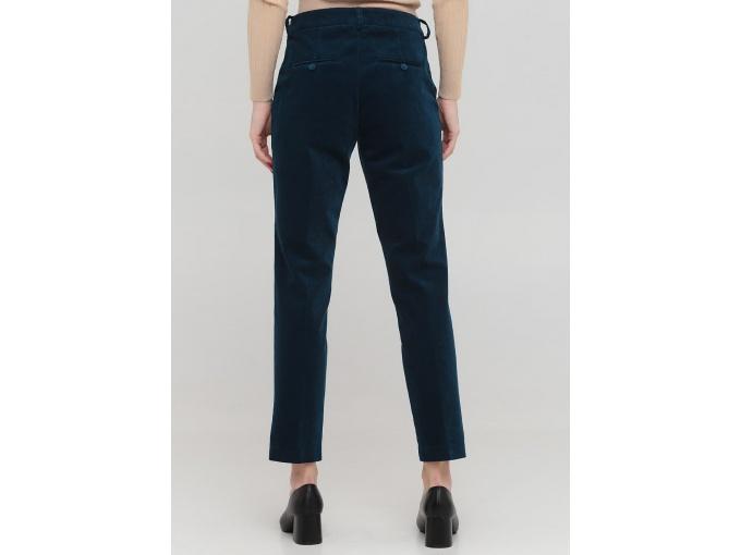 Жіночі вельветові брюки Merlen бірюзово-синього кольору