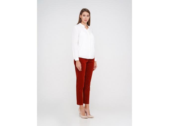 Вельветові жіночі брюки Merlen рудого кольору сезон осінь зима