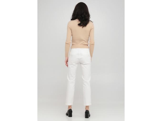 Білі жіночі укорочені брюки Nury