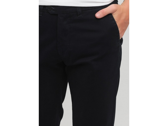 Темно-сині щільні брюки чіноси Rene на осінь зиму