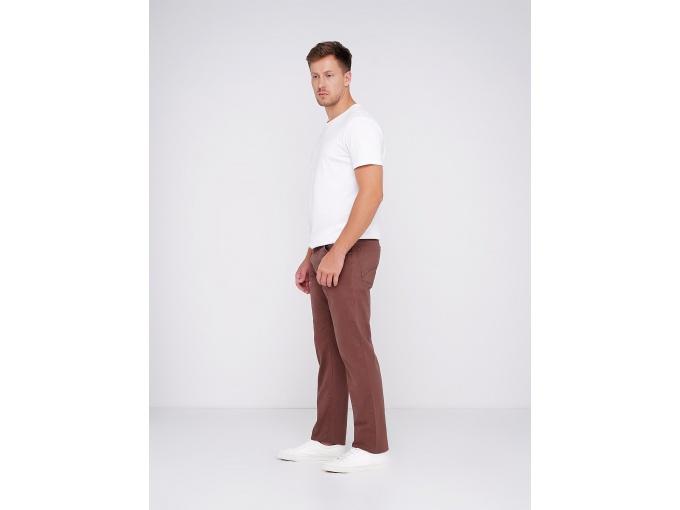 Демісезонні прямі чоловічі брюки Steve коричнево-бордові