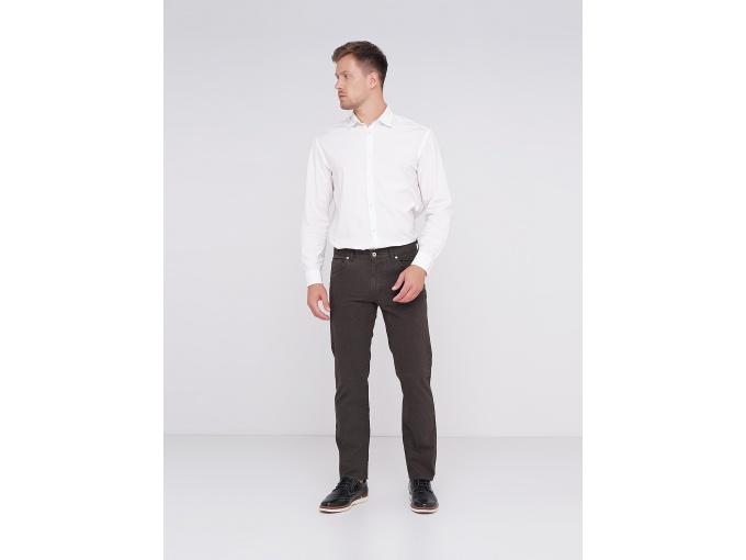 Чоловічі брюки Steve прямого покрою темно-коричневого кольору